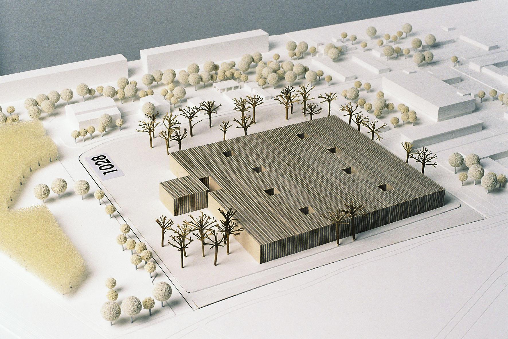 Architektur Modell   Friedrichshagen Staatsbibliothek Zu Berlin